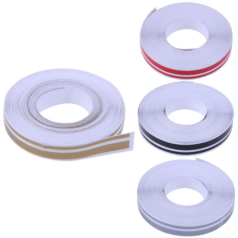 Car Styling 32ft 4x2mm Pinstriping Pinstripe Vinyl Tape Sticker Double Line Reflective Roll Tape Marking Film Sticker For Car