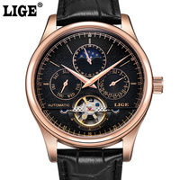 LIGE Brand Watch Men Luxury Clock Automatic Mechanical Watches Men's Sports Waterproof Male Military Watches Relogio Masculino