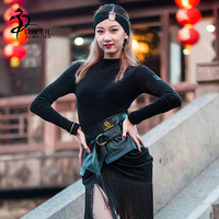 Women Latin Dance Waist Band Girls Latin Salsa Samba Leather Waistband Women Dance Waist Accessories