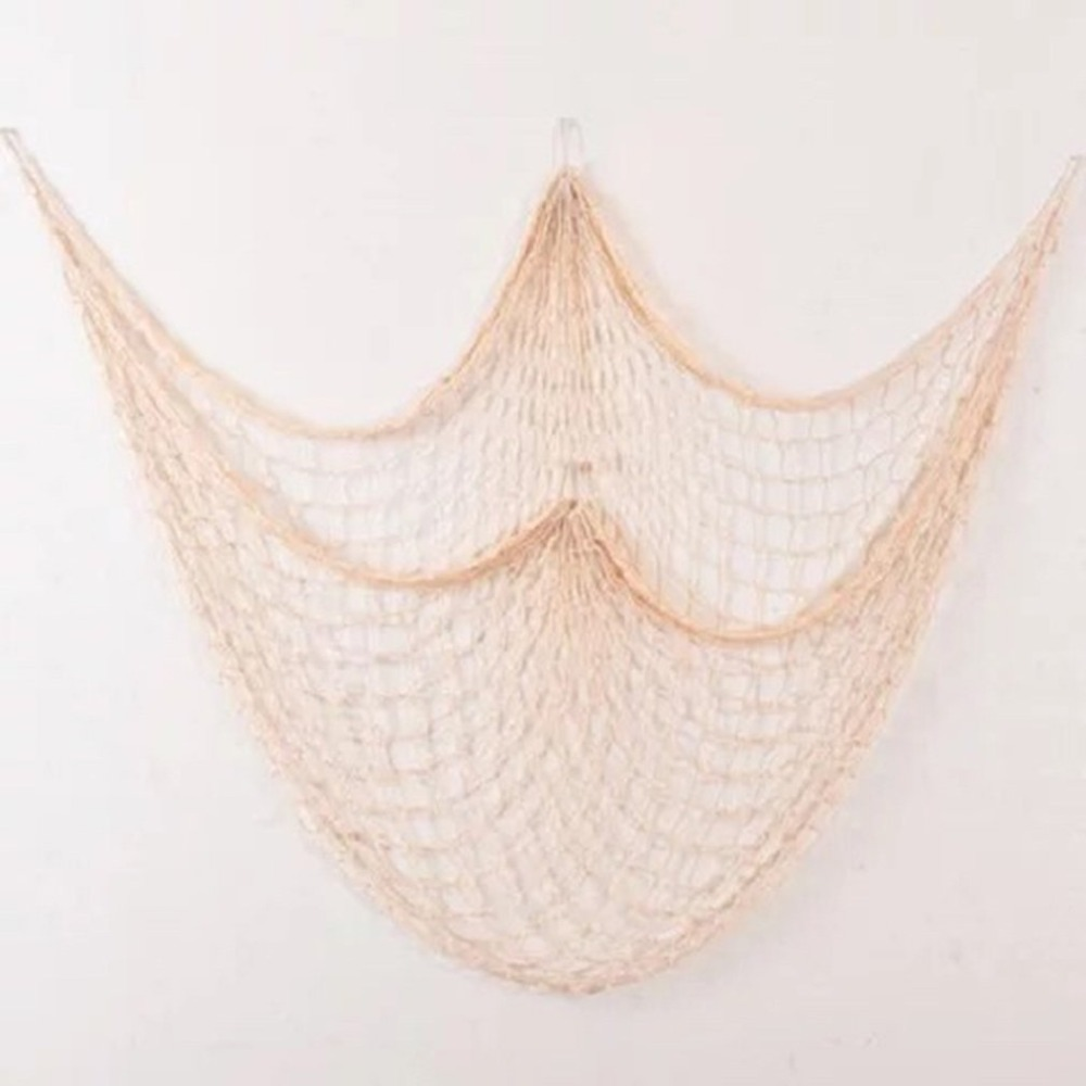 Fishing Net Wall Hangings Decor with Seashells Rustic Nautical Style Wall Hangings Ornaments Decorative For Home Bar in Fishing Net from Sports Entertainment