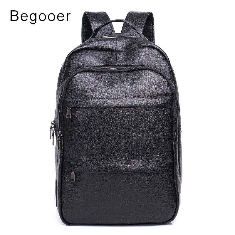 Genuine Leather Backpack Men Korean Backpack Brands Men Travel Bags Student Bag Water Resistant Youth Backpacks Laptop Rucksack