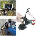 Bicycle Motorcycle mobile phone holder clamps for GPS for samsung for iphone for huawei Apply to 3.5 to 6.5 inch phone