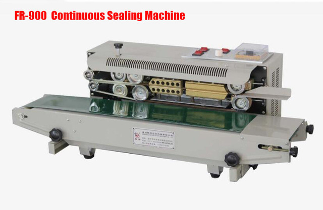FR 900S Heat Sealing Machine for Snack Pouches, Aluminum Foil Bags, Candy Wrapper  PP, PVC, POF film bags band sealer