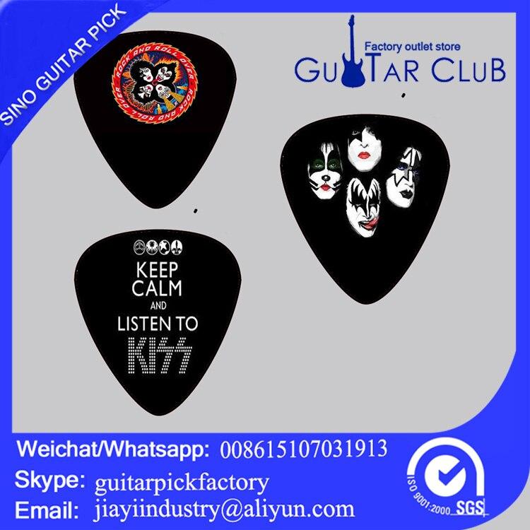 Free shipping Free shipping ukulel pick Kiss rock band plectrum 120 pcs / lot Guitar Picks