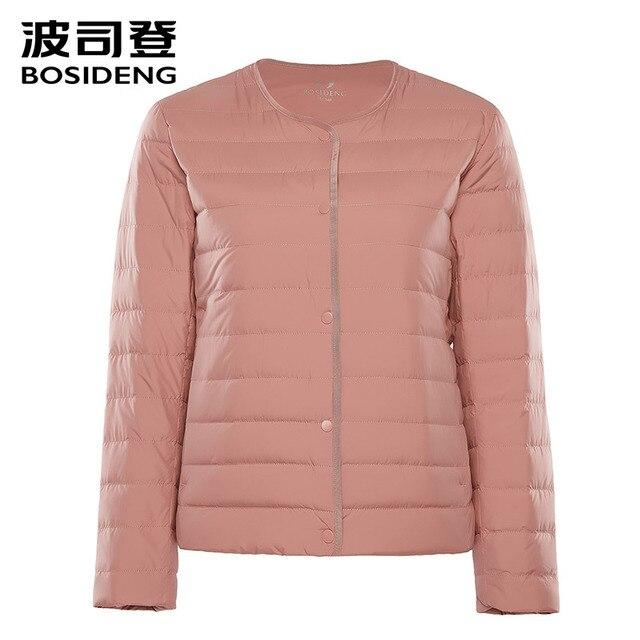 BOSIDENG 2018 новая ранняя зима женская одежда женский пуховик 90 утиный пух куртка ультра легкий Высокое качество Большой размер B80130012B