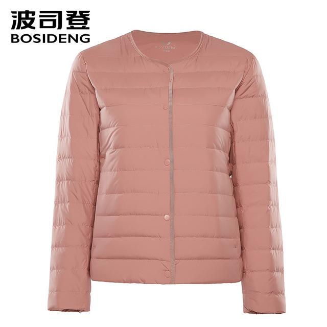 BOSIDENG 2018 nowe wczesne zima kobiet Odzież damska dół płaszcz 90 kaczka dół kurtka ultra lekki wysokiej jakości duży rozmiar B80130012B