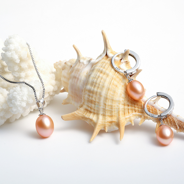 925 Sterling Silver Pearl Jewellery Set