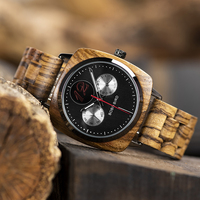 Reloj de madera pulso madera cuarzo para hombre 3