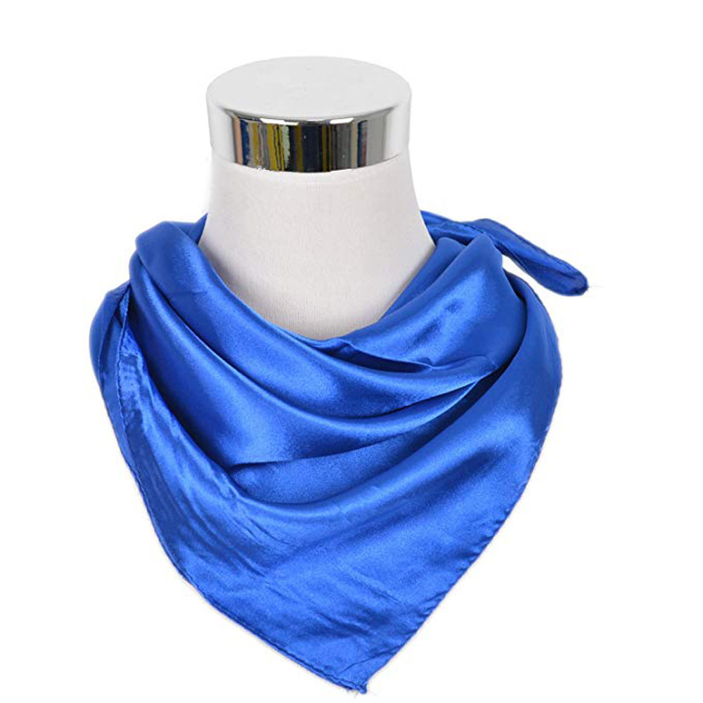 Small Square Satin   Scarf   Artifical Silk   Scarf   Women's   Wrap   Handkerchief Accessories 60X60CM Pure Colored Small Towel #NEW