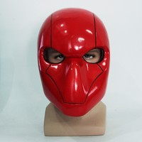 Batman Red Hood Jason Todd Cosplay Mask PVC Helmet Halloween Party Headwear Full Face Cosplay Props