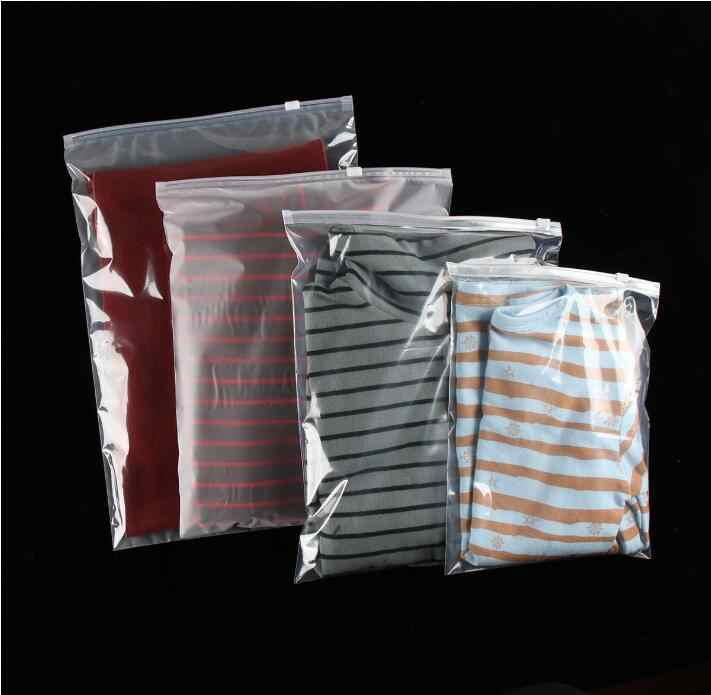 30pcs Multi Sizes Zip Lock Clothes Storage Packing Bags Transparent Plastic Bag Reclosable Travel Packaging Bags