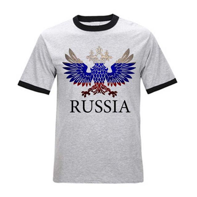 Tienda Online USAprint hombres camiseta algodón Rusia Logo imprimir ...