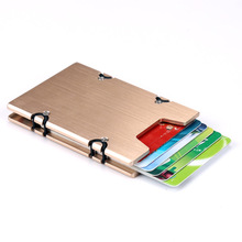 Wholesale Metal Card Holder Aluminum Credit Money Wallet With Blocking For Cards Id Holders