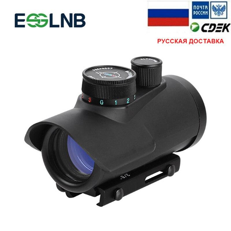 Czerwona kropka luneta Airsoft Reflex Sight pryzmat optyczny czerwony zielony niebieski ustawienia jasności luneta z 20mm/11mm do montażu na szynie