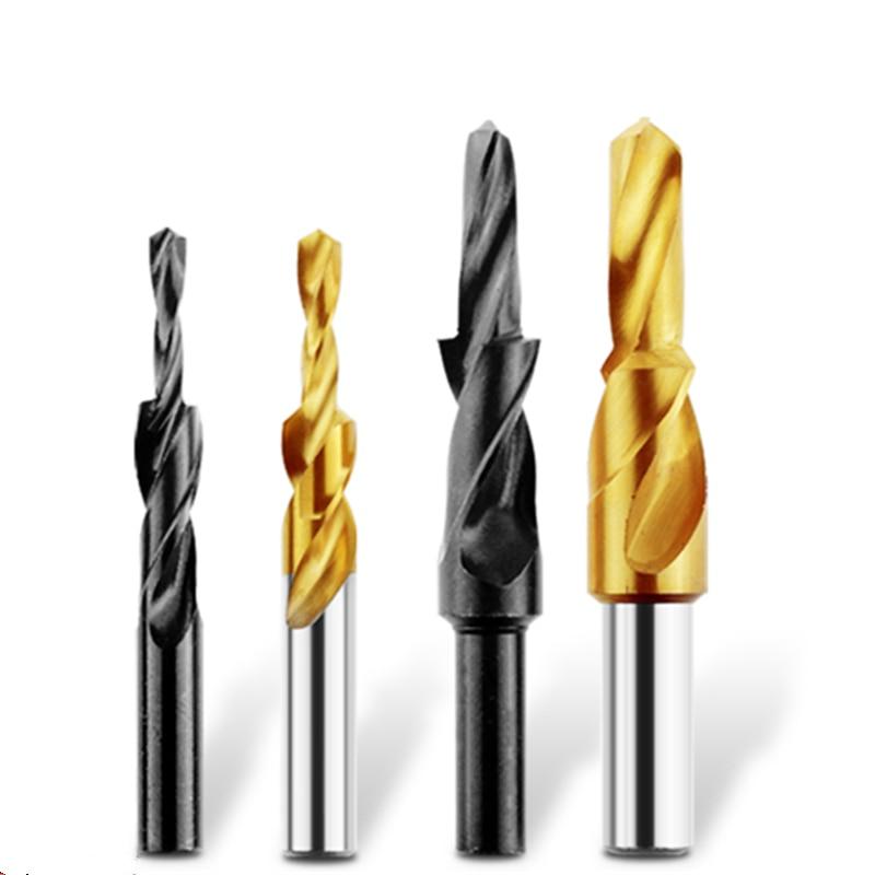 1PCS M3 M4 M5 M6 M8 M10 M12*180 Degree Cobalt HSS M35 /HSS Ladder Drill Twist Drill Counterbore Drill ,Straight Shank Step Drill