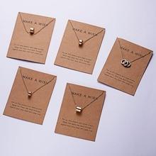 Rinhoo 7,5*10 см простая Золотая круглая подвеска, ожерелье, аксессуары, подарок для женщин, модное ювелирное изделие