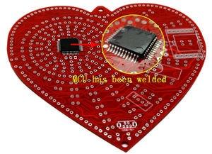 Image 4 - zirrfa New green heart shaped diy kit lights cubeed gift ,led electronic diy kit