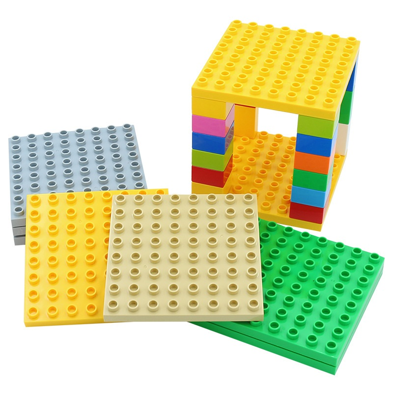 64 dots baseplate Assemble classic Bricks Big size Building Blocks accessory Compatible with Duplo sets children DIY Toys gift bulk baby blocks big building blocks toys 2 2 2 4 4 8 8 8 plate compatible with duple diy toys baseplate