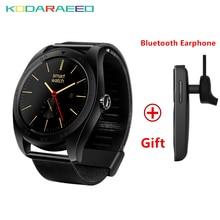 K89 Smartwatch bluetooth Relógio Inteligente Esporte Saúde Eletrônica para A Apple Samsung Engrenagem Wearable Dispositivos + fone de Ouvido Bluetooth Livre