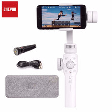 Zhiyun Smooth 4 3-Axis Focus Smartphone Handheld Gimbal Stabilizer for iPhone X 8 7 Plus 6 Samsung Galaxy S8+S7 Mobile White zhiyun official smooth 4 3 axis handheld smartphone gimbal stabilizer vs smooth q model for iphone x 8plus 8 7 6s samsung s9s8s7