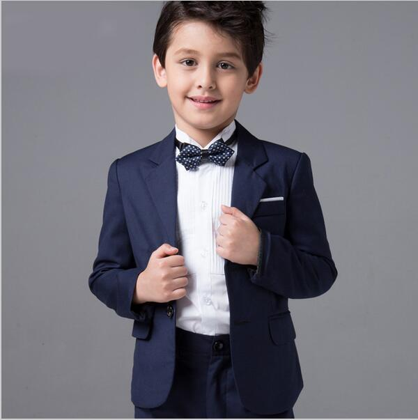 Boys Wedding Suits Baby Kids Blazers Skirts Pants Set Childern Boy Dress Clothes Blue Formal Prom Communion Party 4pcs In From Mother