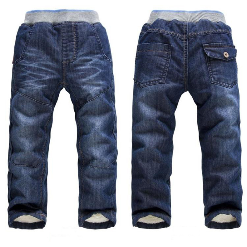 BibiCola Autumn Boys Jeans Casual Trousers Toddler Boys Jeans Pants Kids Winter Pants Boys Thicken Warm Cotton Long Pants afs jeep new men cargo pants autumn winter overall loose straight more pocket jeans fashion casual man trousers bottoms