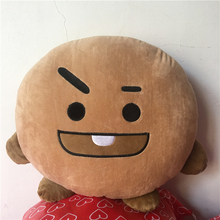 Kpop home Bangtan boys BTS bt21 vapp Pillow warm bolster Q back cushion Plush Doll TATA VAN COOKY CHIMMY SHOOKY KOYA RJ MANG
