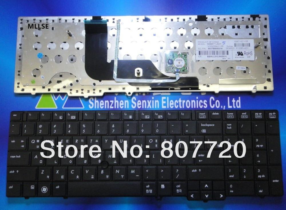 Корейская клавиатура 609871-AD1, 613385-AD1 forHP 6540B 6545B 6550B, с точечной наклейкой