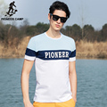 Pioneer Camp 2017 new casual t shirt men elastic cotton short sleeve t-shirt o-neck comfortable&breathable Brand Men620015