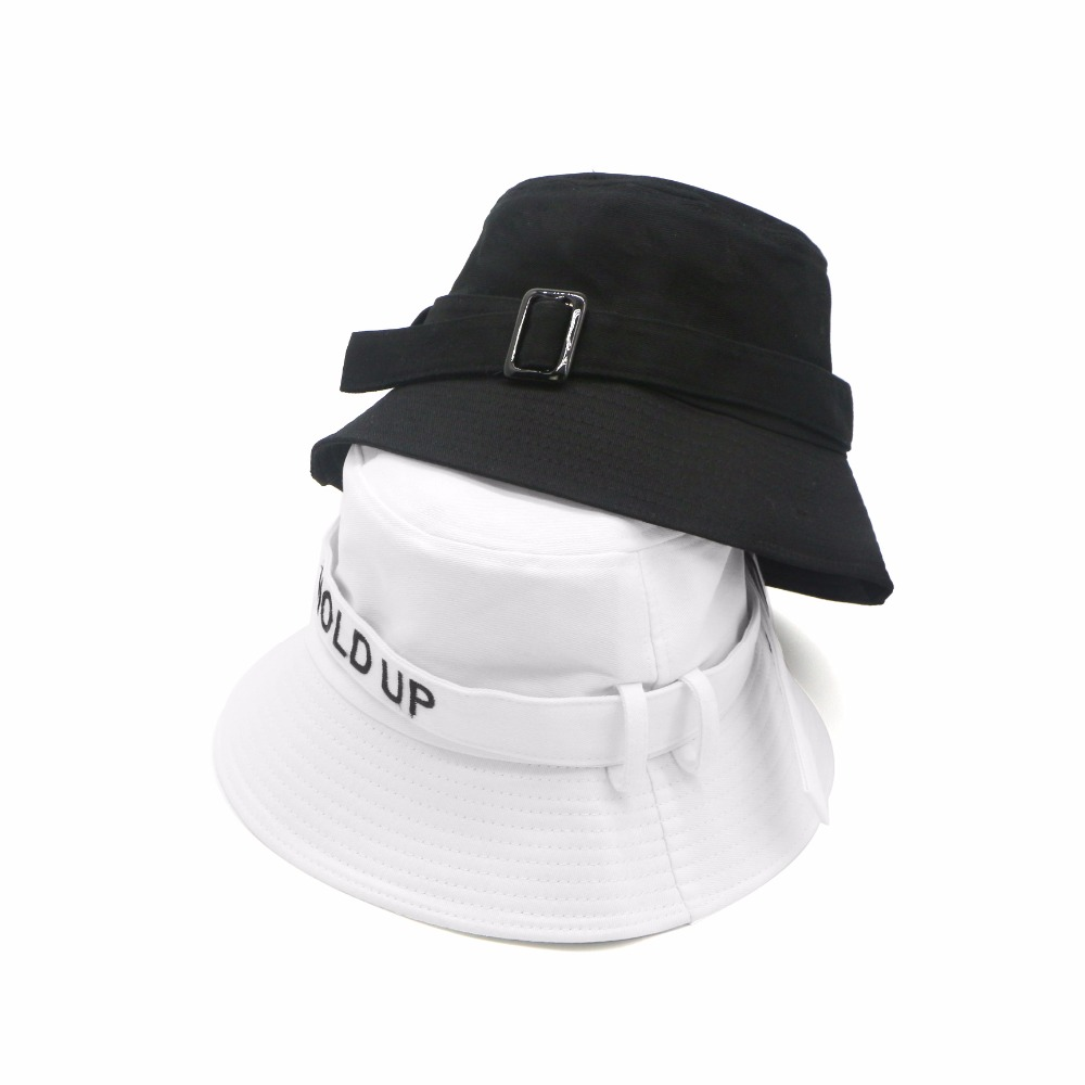 2018 New Fashion Cotton Hold UP Bucket Hat White Black Panama Fishing Cap  Boys Girls Fisherman Hats Caps-in Bucket Hats from Apparel Accessories on  ... 264cfd1ba1a
