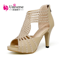 Universe Women Sexy Sandals Gladiator Super High Heel Shoes Plus Size 33 42 4 8 5