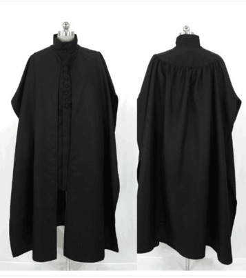 Professor Severus Snape Cosplay Cloak Black Robe Hogwarts School Deathly Hallows