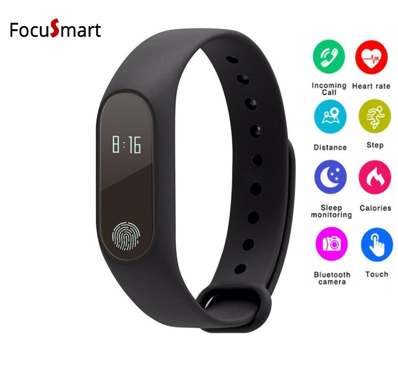 2018 M2 Smart fitness Bracelet Heart Rate Wristband Sleep Monitor Sport Pedometer Smart band Tracker For IOS Android PK miband
