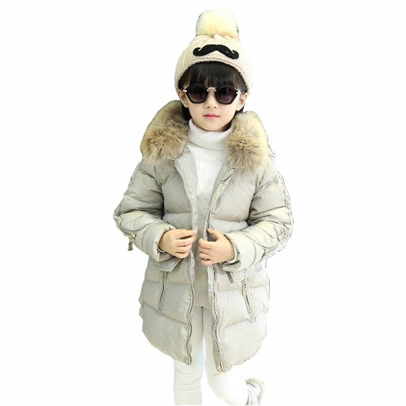 2016 Kış Stil Kızlar Çocuk Kapşonlu Kabanlar Snowsuit Noel Giyim Palto Ceket Sıcak Giysiler Çocuklar Aşağı Parkas