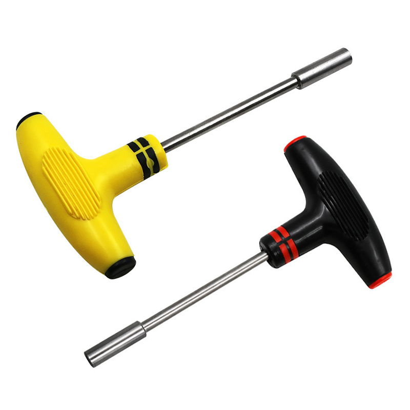 New Dropship Multifunctional T-sleeve Socket Wrench Screwdriver Bread Handle Batch Set Black Yellow