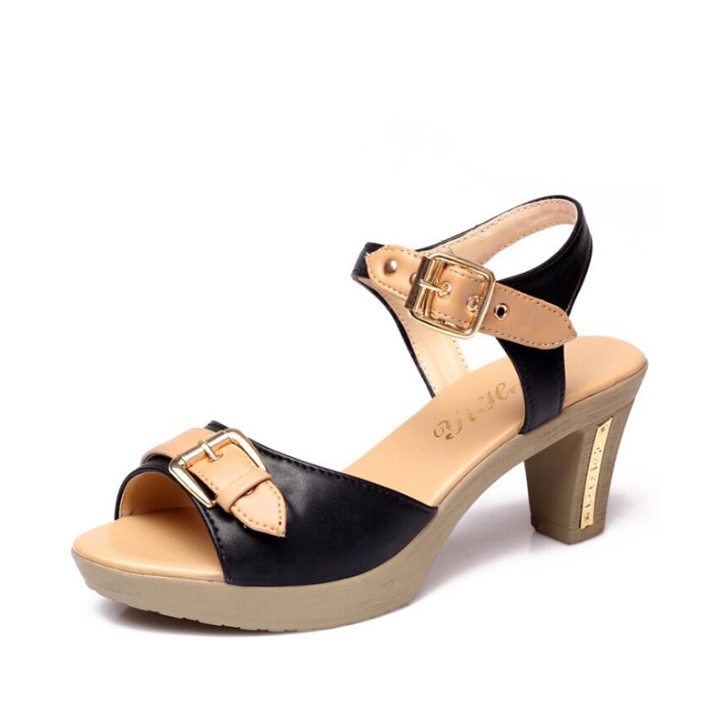 summer high heels sandals women thick heels fashion pumps large size gladiator shoes peep toe ankle buckle ladies stiletto 7cm brand new stiletto high heels sandals gladiator women sexy platform rome style shoes summer ladies open toe buckle pumps fashion