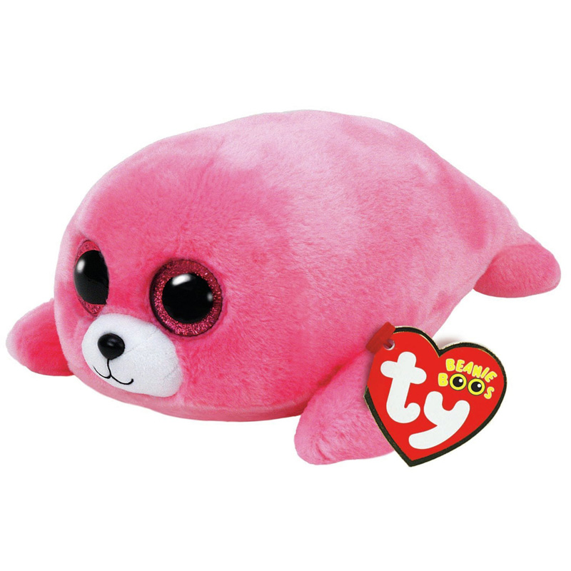 "TY Beanie Boos Big Eyes Dolphin 6"" 15cm Pierre Pink Seal Stuffed Plush Doll Toy Collectible Big Eyes Owl Dolls Xmas Gifts Kids"