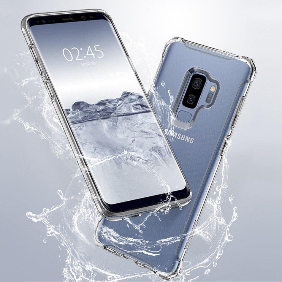 Для samsung A7 A6 A8 плюс 2018 A750 Galaxy S10 S8 S9 плюс S10E Note 9 Note8 чехол из прозрачного силикона PC Гибридный противоударный чехол