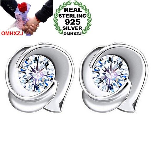 970668b74549 OMH venta al por mayor joyería de moda rosas AAA ZIRCON Crystal 925  pendientes de plata esterlina YS91