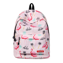 Flamingo Printing Backpack School for Girls Kids 2019 Women Fashion Backpack Bags for College Student  Large Capacity Travel Bag