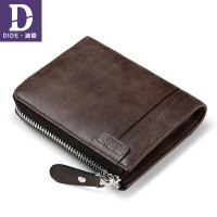 DIDE 2018 Brand Fashion Genuine Leather Wallet Male Short Wallets card holder Coin men's wallets and purses women wallet