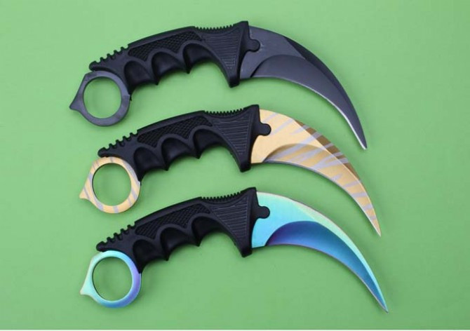 Buy Toplu CS go Best Quality Outdoor Karambit Knives 440 Blade Rescue Camping Multi Knife EDC Outdoor Knife Hunting Tools ABS Sheath cheap