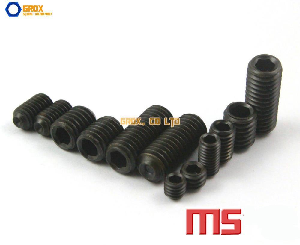 M5  Grub Screws Cup Point Hex Socket Set Screw 12.9 Grade Alloy Steel m2 5 grub screws hex socket set screws with cup point alloy steel grade 12 9 black pack 1000
