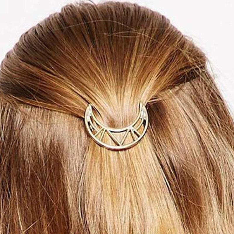 Minimalist Boho Hollow Moon Hair Pins Women Girls Hair