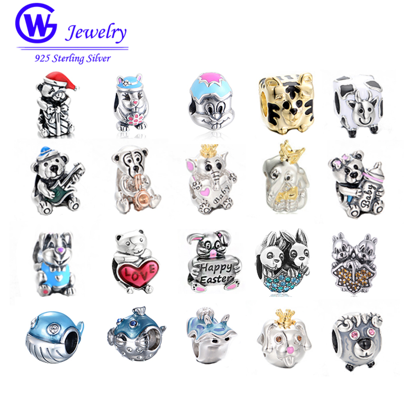 Fit Authentic pandora charms silver 925 original Animal Charms Collect 925 Sterling Silver DIY Jewelry For Women Gifts