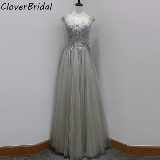 Real Pictures Sleeveless O Neck Soft Tulle Silver Bridesmaid Dresses With Pearls Liques Burgundy Le Green