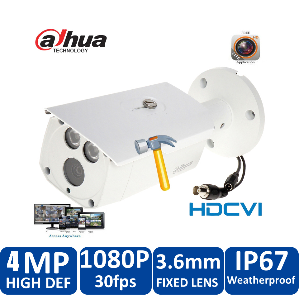 Original Dahua 4MP HDCVI Camera DH-HAC-HFW1400DP HDCVI IR bullet Security Camera CCTV IR distance 80m HAC-HFW1400DP cvi camera dahua hdcvi 1080p bullet camera 1 2 72megapixel cmos 1080p ir 80m ip67 hac hfw1200d security camera dh hac hfw1200d camera