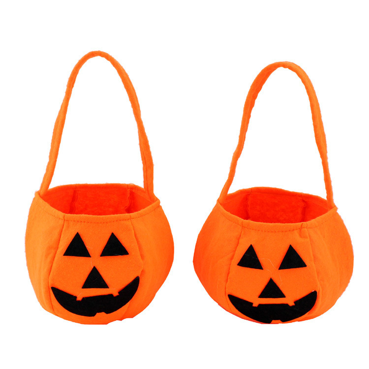 retail hot sale high quality new halloween 3d pumpkin bag candy bag halloween decoration supplies for - High End Halloween Decorations