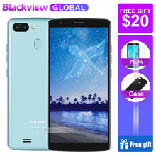 Hızlı kargo Blackview A20 pro Akıllı Telefonlar 18:9 5.5 inç Android 8.1 arka parmak izi KIMLIK 2 GB 16 GB 4G cep telefonu