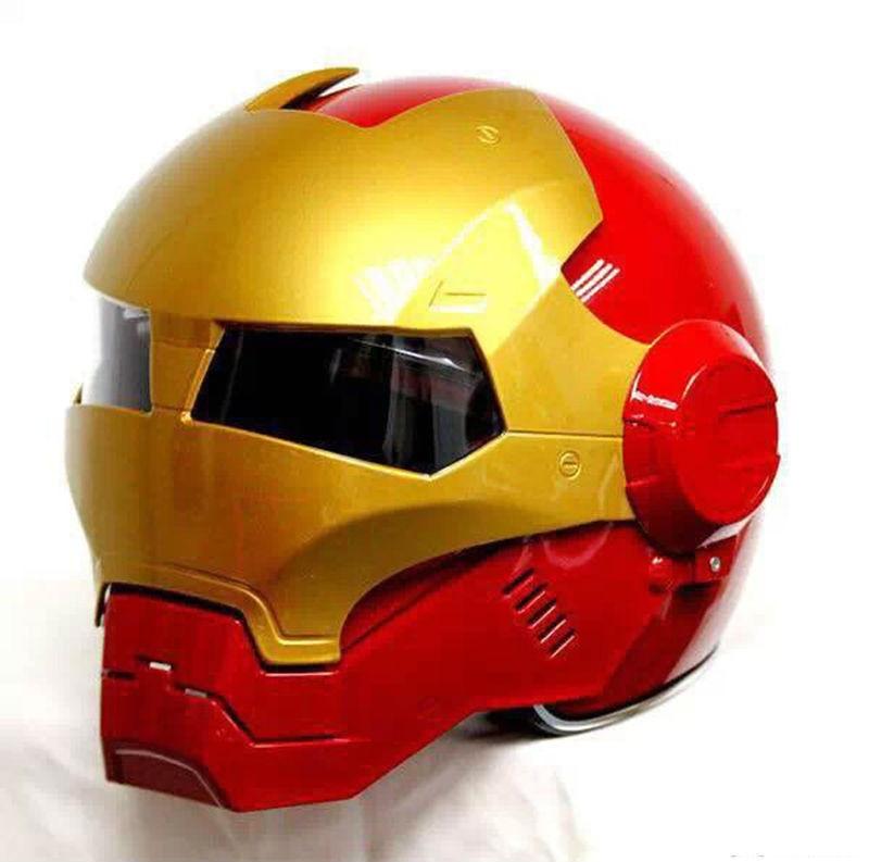 Top ABS Motocycle Helmet MASEI Iron Man personality special fashion half open face motocross helmet шлем для мотоциклистов masei abs 610